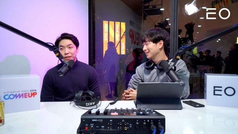 (왼쪽부터) 엔코드 정준영 대표, EO 김태용 대표