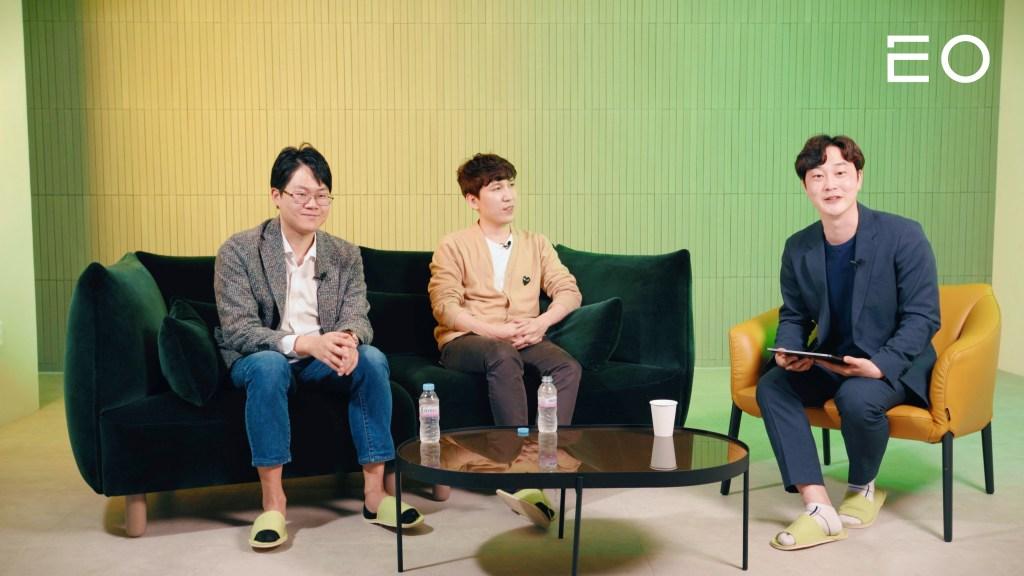 (왼쪽부터) 럭스로보 오상훈 창업자, 해시드 김서준 대표, 대구진월초등학교 신민철 교사