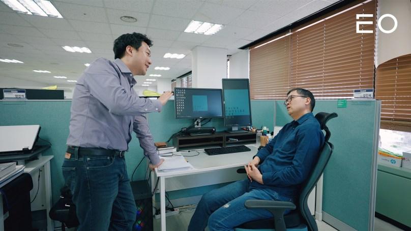 (왼쪽부터) 파운트 김영빈 대표, 최고투자책임자 김민복