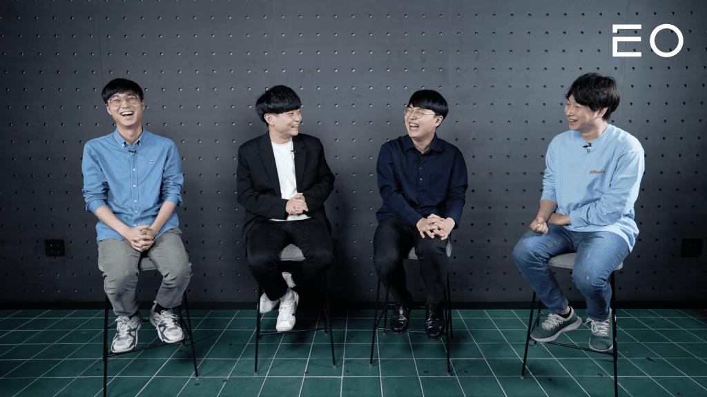 (왼쪽부터) 비트바이트 안서형 대표, 구형모 개발자, 김현곤 개발자, EO 김태용 대표