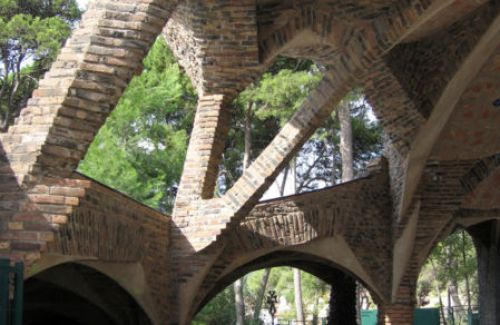 Cripta de la Colonia Guell in Barcelona by Till F Teenck