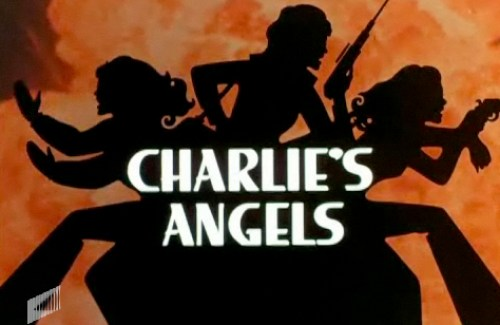 Screen shot of Charlie's Angel; Farrah, Kate and Jacklyn were the original three.