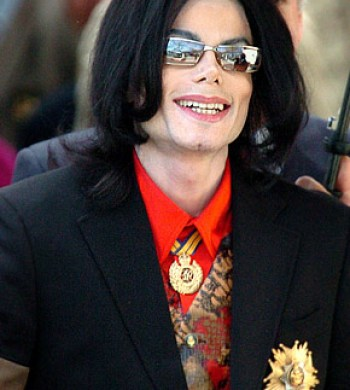MJ in a moment of mirthfulness ... just a moment
