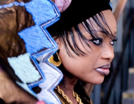 Oumou looking every bit the African Diva here