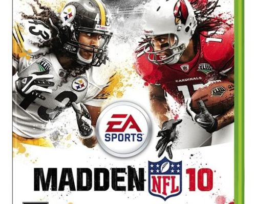 Madden 10 Videogame cover ~ Fitzgerald and Polamalu