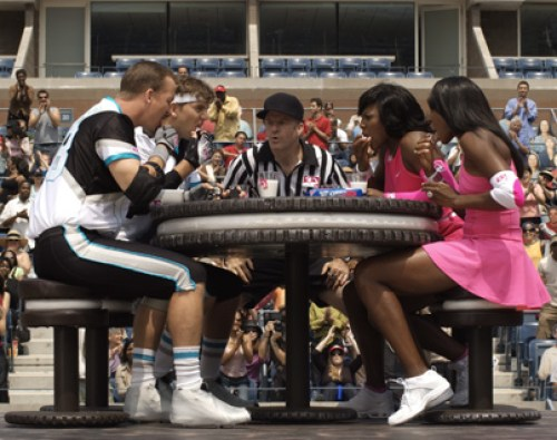 Oreos LickOff ~ Eli and Peyton Manning against Serena and Venus Williams