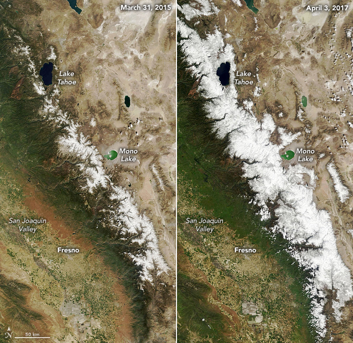 A Long View of Sierra Snow