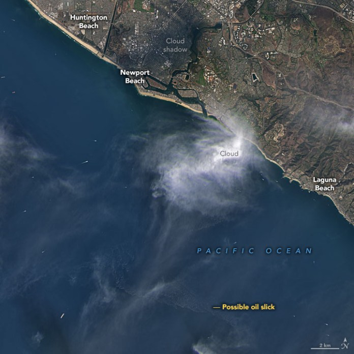 Satellites View California Oil Spill