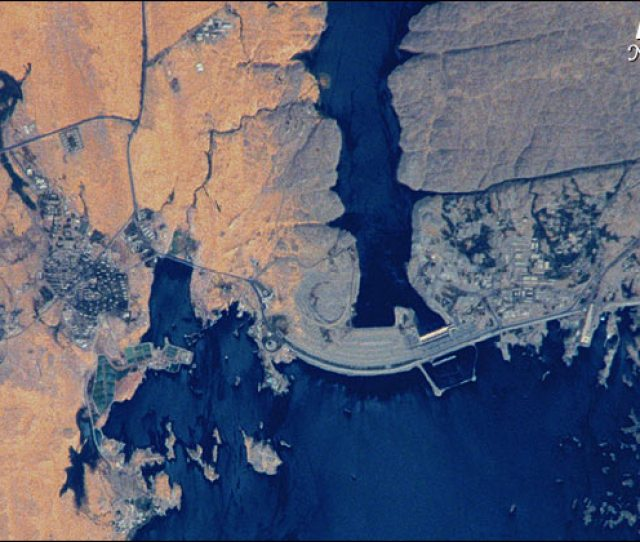 Aerial Of The High Dam At Aswan From Nasa At Nasa Gov
