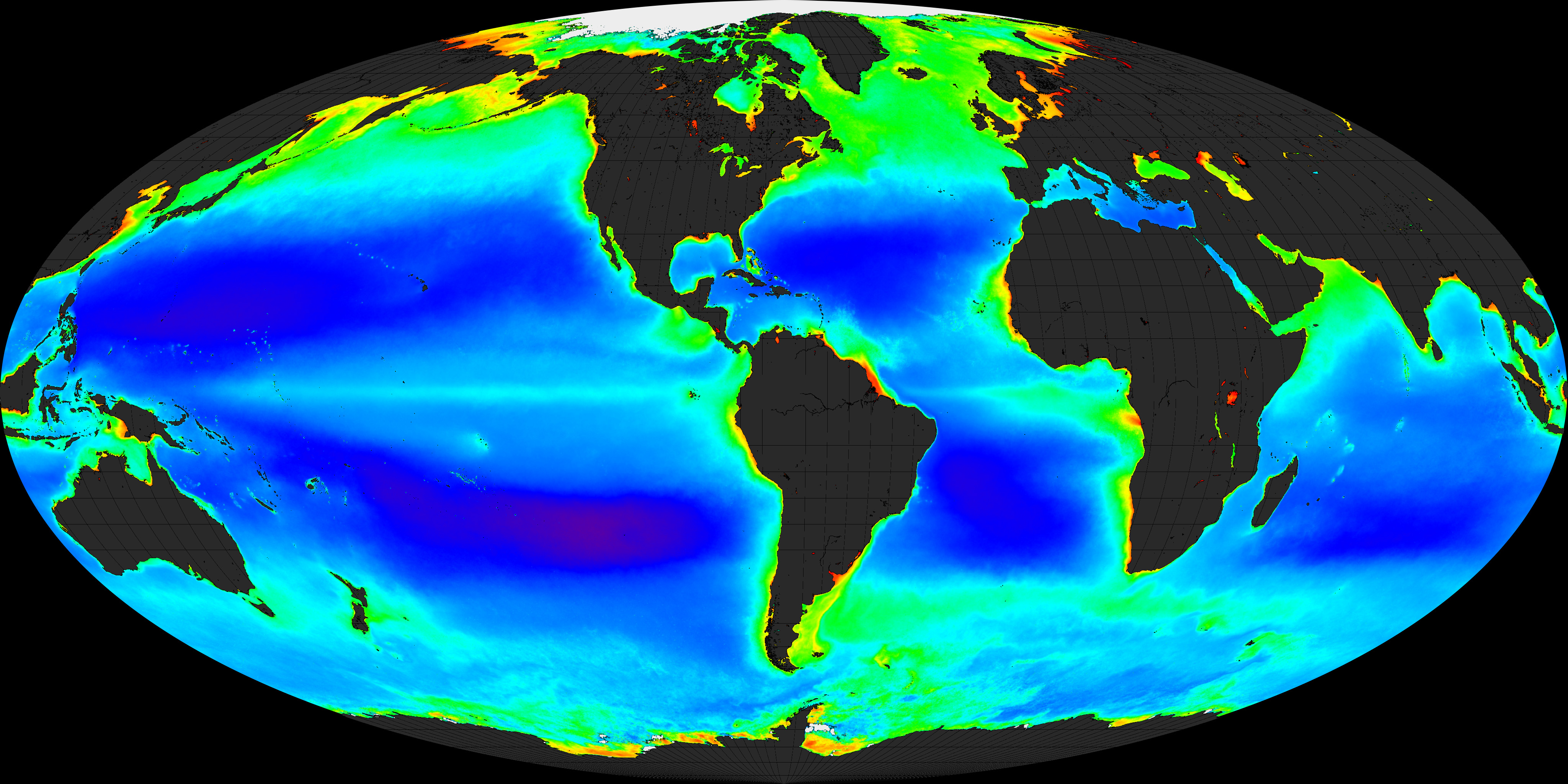Global Chlorophyll Image Of The Day