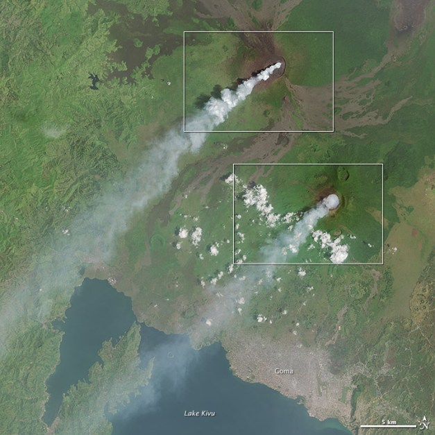 Plumes From Africa's Volcanic Duo