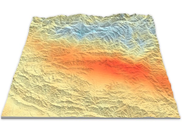 Map of Seismic Movement