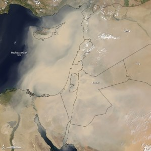 Dust Storm Sweeps Across Middle East
