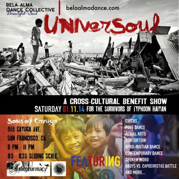 UniverSoul Event Flyer - Bela Alma Dance Collective
