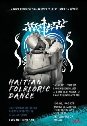 Haitian Folkloric Dance Class Flier (PRINT)
