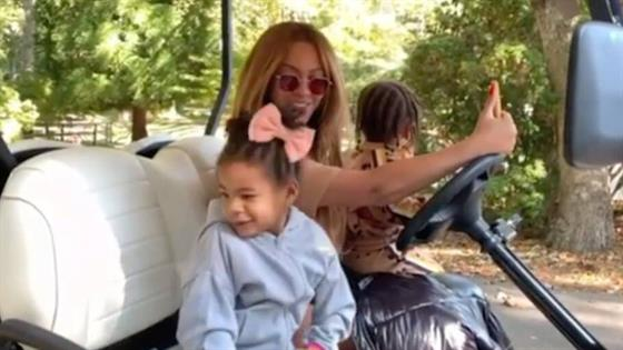 beyonce s 2020 recap video shows rare footage of 3 kids