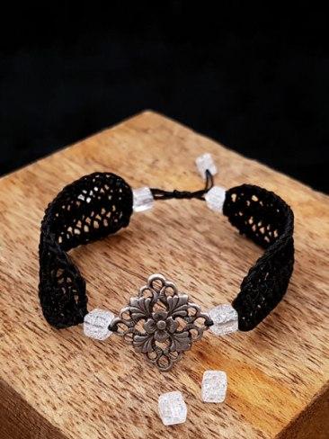 SHANNEN Bracelet en crochet - Fait main - Bijou de créateur