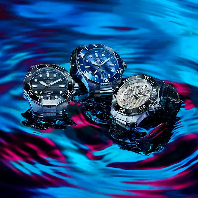 TAG Heuer Trio in water