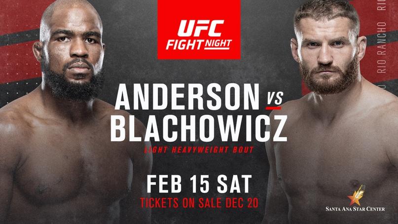 UFC Fight Night: Corey Anderson v Jan Blachowicz Results