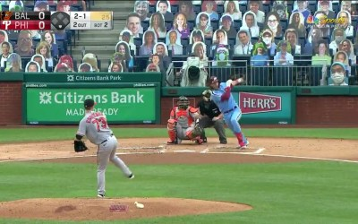 Alec Bohm's First MLB Hit [Video]