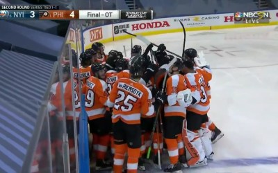 Flyers Win In Overtime
