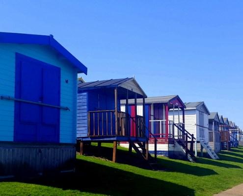 colorate beach hut