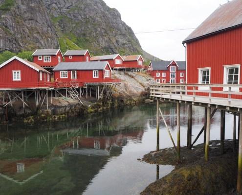 Villaggio rosso alle Lofoten