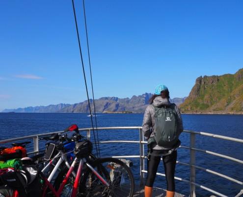 vista dal battello Ballstad Nusfjord