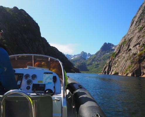 vista dal fiordo di Trollfjord