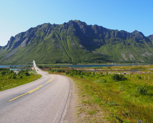 prima dell'attraversamento ponte alle Isole Lofoten