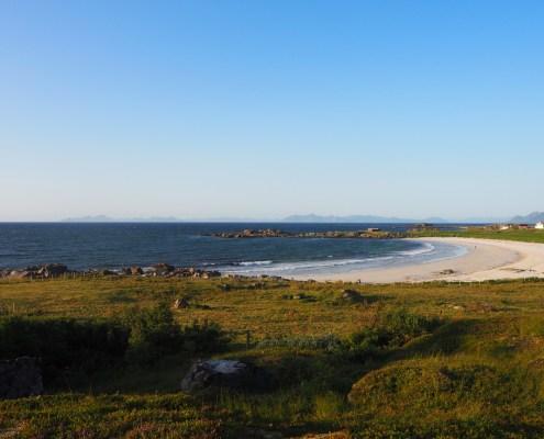 panorama spiaggia a Gimsoya