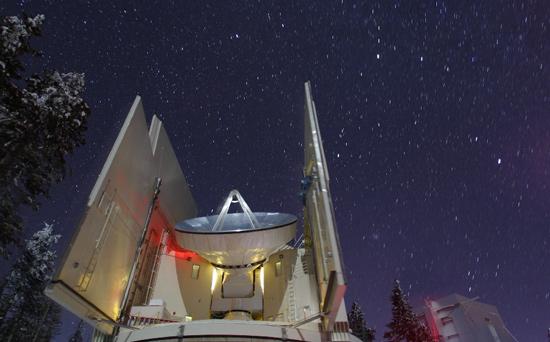 Submillimeter Telescope on Mt Graham