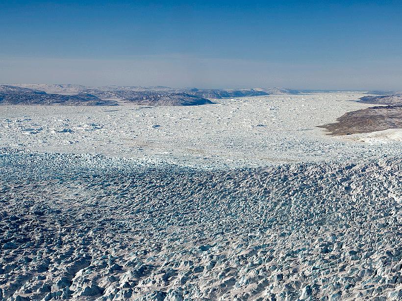 A large river network lies beneath Jakobshavn Glacier.