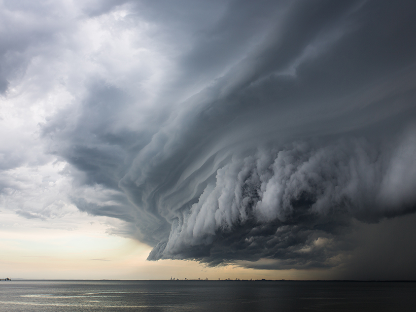 In this image of a supercell storm, the enormous atmospheric variability across scales can be seen with the naked eye.