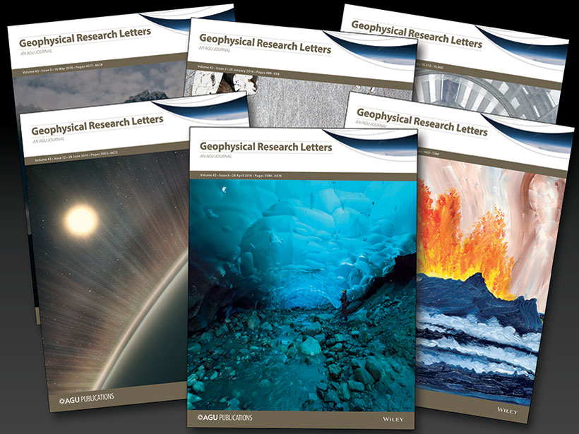Geophysical-Research-Letters-recent-issue-covers