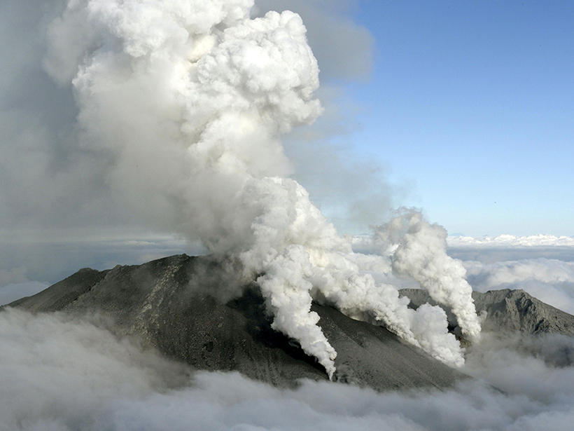 Cracking of a fluid barrier beneath Japan's Mount Ontake may have caused the deadly eruption in 2014