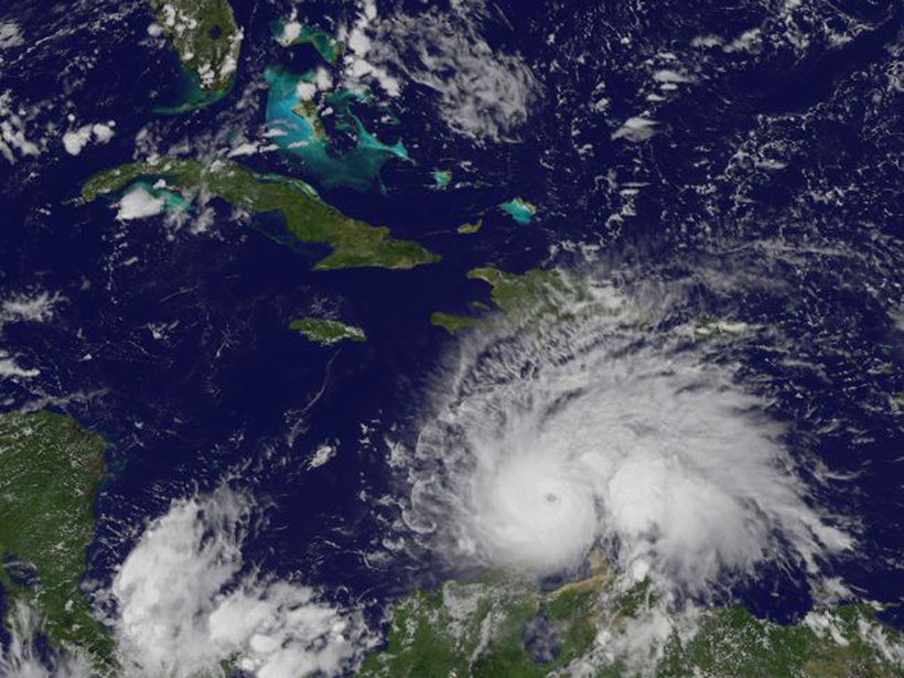 Hurricane Matthew brought high winds and heavy rain to the Caribbean in October 2016.