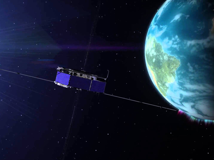 Four identical MMS spacecraft—one of which is pictured in this illustration—were launched in 2015 to study the process of magnetic reconnection.