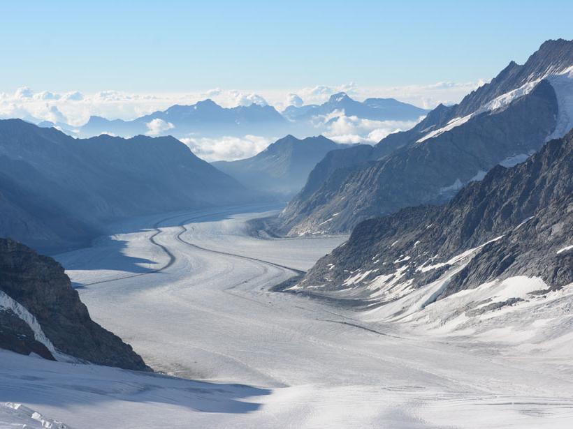 Aletsch glacier seen from Jungfraujoch.