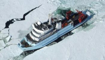 NSF's global-class research vessel Sikuliaq in February 2014.