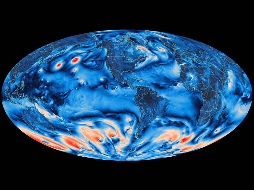 Windspeed-global-map-CESM-model-program