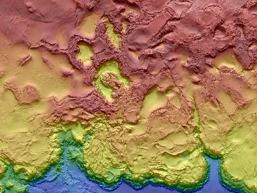 High resolution map of Gulf of Mexico.