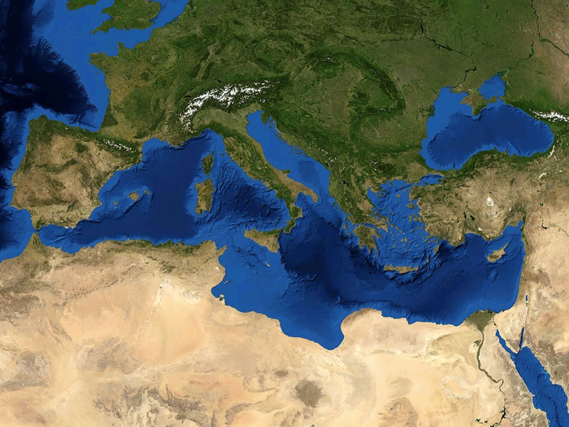 Researchers recently revisited geological evidence thought to indicate 135 tsunami events in eight nations ringing the Mediterranean basin