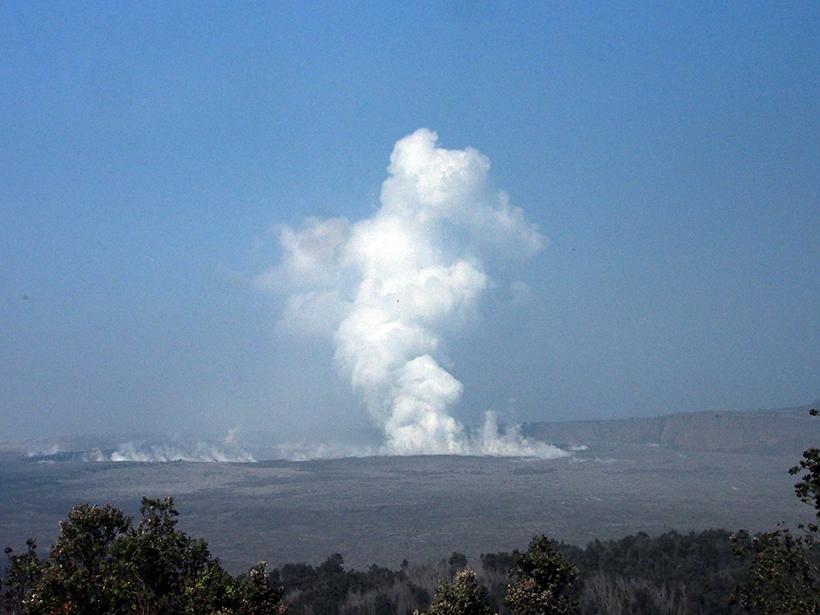 Steam plume from Halema'uma'u crater on 1 June 2018