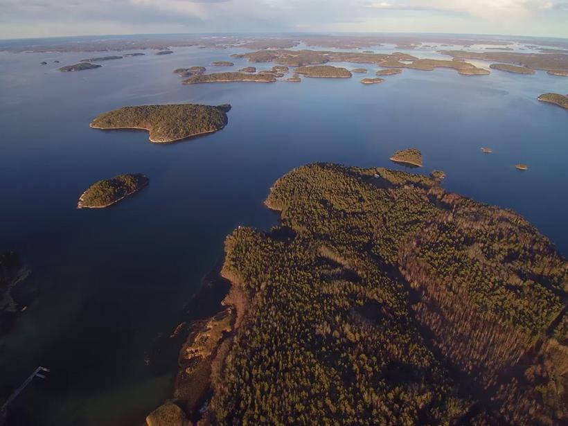 Aerial view of Archipelago Sea