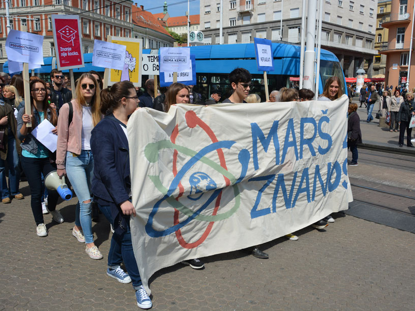 2017 March for Science in Zagreb, Croatia