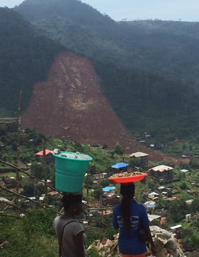 Intense rains triggered this mudslide near Freetown, Sierra Leone, in August 2017.
