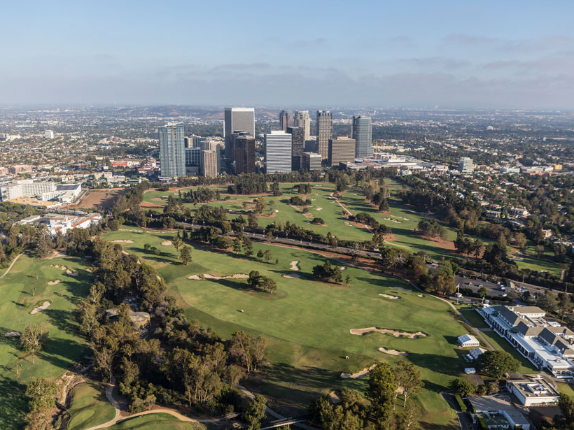 A view of the Los Angeles Country Club Golf Course