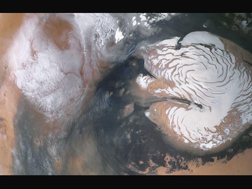 Mars Express north polar plains