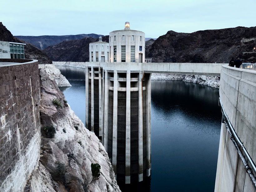 A view of drought-stricken Lake Mead
